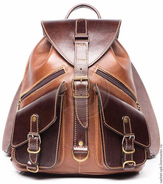 """Рюкзаки ручной работы. Ярмарка Мастеров - ручная работа. Купить Кожаный рюкзак """"Пилот"""" коричневый. Handmade. Коричневый, крутой рюкзак"""