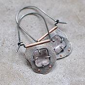 Украшения handmade. Livemaster - original item Earrings with kunzite, silver and copper. Handmade.