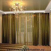 """Для дома и интерьера ручной работы. Ярмарка Мастеров - ручная работа шторы и покрывало """"Relax"""". Handmade."""