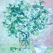 Картины и панно ручной работы. Ярмарка Мастеров - ручная работа Картина маслом Яблочный чай. Handmade.