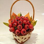 """Цветы и флористика ручной работы. Ярмарка Мастеров - ручная работа Корзинка с рябиной """"Осень"""". Handmade."""