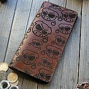Сумки и аксессуары handmade. Livemaster - original item Leather wallet with Suboswin engraving. Handmade.