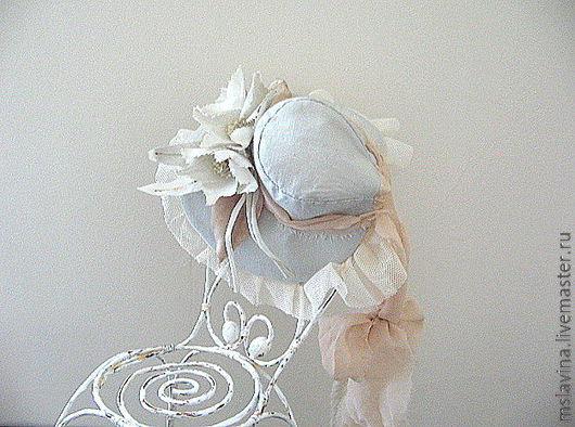 Одежда для кукол ручной работы. Ярмарка Мастеров - ручная работа. Купить Шляпка, капор, винтажный  стиль, для куклы. Handmade. Шляпа