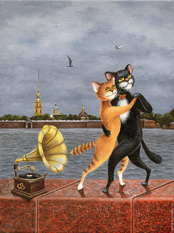Схема вышивки питерские коты