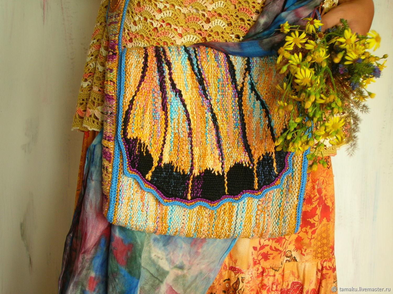 Тканая сумка Жёлтая бабочка, Классическая сумка, Пенза,  Фото №1