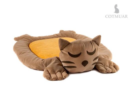 Аксессуары для кошек, ручной работы. Ярмарка Мастеров - ручная работа. Купить COTMUAR Фанни Кэт Браун. Handmade. Коричневый, кошка
