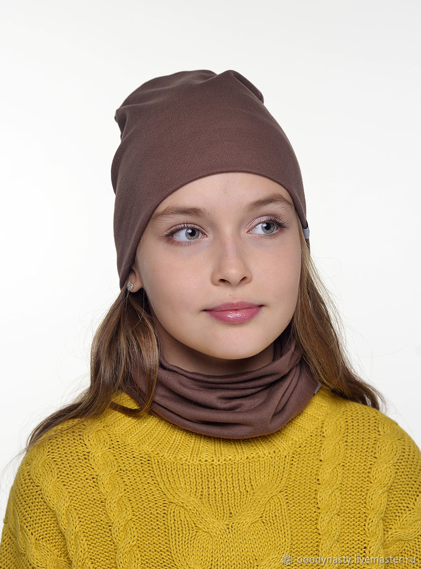 Set of hat and cowl, Scarf and hat set, St. Petersburg,  Фото №1