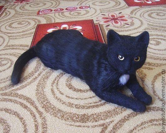 Игрушки животные, ручной работы. Ярмарка Мастеров - ручная работа. Купить Портретная скульптура чёрной кошки натурального размера. Handmade.