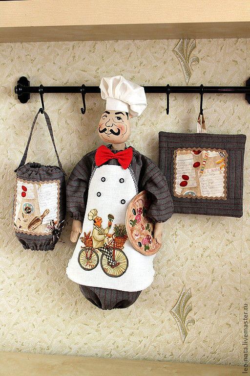 """Кухня ручной работы. Ярмарка Мастеров - ручная работа. Купить """"Пиццерия Маэстро  Проспэро""""(+ прихватка) комплект. Handmade. Интерьер кухни"""