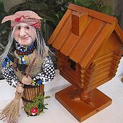 Куклы и игрушки ручной работы. Ярмарка Мастеров - ручная работа Кукла Баба Яга в ступе. Handmade.