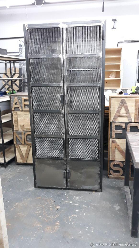 Индустриальный лофт. Шкаф из настоящей стали. Брутальный стиль - настоящий лофт. Купить и заказать шкаф в индустриальном стиле в интернет-магазине на Ярмарке Мастеров.