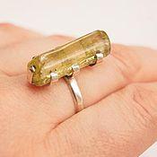 Украшения ручной работы. Ярмарка Мастеров - ручная работа кольцо Гелиодор 2.0. Handmade.