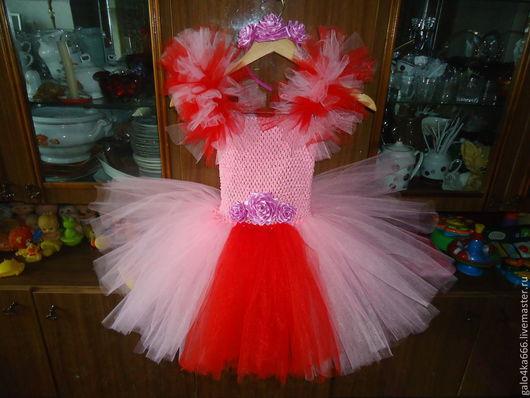 Одежда для девочек, ручной работы. Ярмарка Мастеров - ручная работа. Купить платье- туту(tutu). Handmade. Розовый, цветочный, фатин, туту