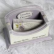 Канцелярские товары handmade. Livemaster - original item Business card holder for your business cards. Handmade.