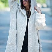 Одежда handmade. Livemaster - original item Spring knitted vest with hood and pockets - VE0042WK. Handmade.