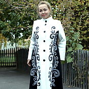 "Одежда handmade. Livemaster - original item Knitted coat ""Monochrome twigs"". Handmade."