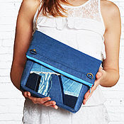 Классическая сумка ручной работы. Ярмарка Мастеров - ручная работа Джинсовая сумка-трансформер. Handmade.