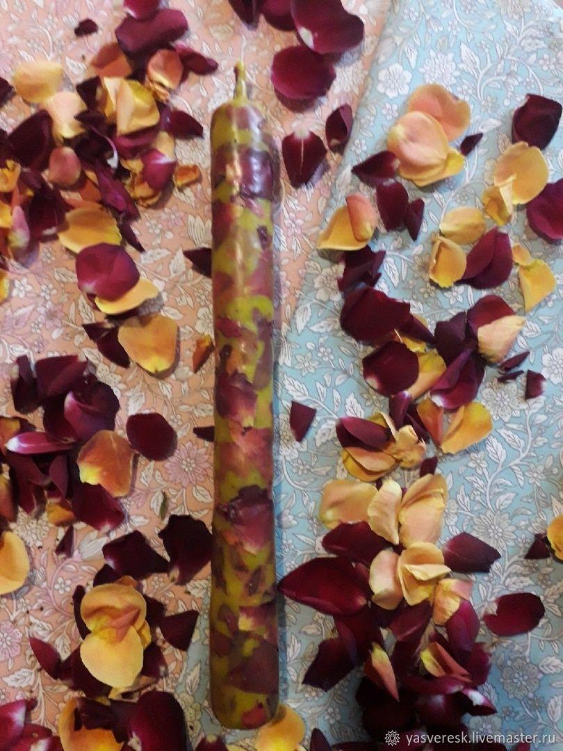 Свеча с лепестками роз, Свечи, Брянск,  Фото №1