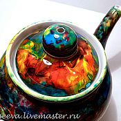 Посуда ручной работы. Ярмарка Мастеров - ручная работа Чайник Осенний взрыв. Handmade.