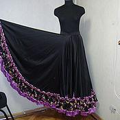 Одежда ручной работы. Ярмарка Мастеров - ручная работа Цыганская юбка (тренировочная). Handmade.