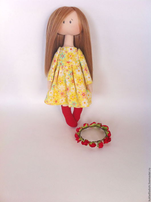 Коллекционные куклы ручной работы. Ярмарка Мастеров - ручная работа. Купить Александра, интерьерная кукла. Handmade. Желтый, кукла в подарок