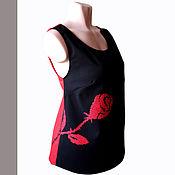 """Одежда ручной работы. Ярмарка Мастеров - ручная работа Блузка-туника """"Роза"""" ручная вышивка. Handmade."""