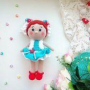 Мягкие игрушки ручной работы. Ярмарка Мастеров - ручная работа Кукла вязаная игровая Мила. Handmade.