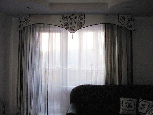 Текстиль, ковры ручной работы. Ярмарка Мастеров - ручная работа. Купить Вензеля. Handmade. Гостинная, портьерная ткань, цветы из ткани