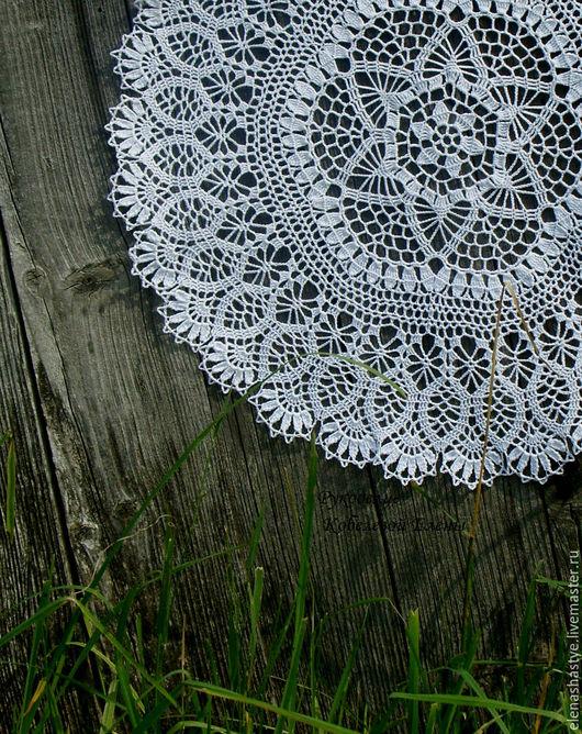 """Текстиль, ковры ручной работы. Ярмарка Мастеров - ручная работа. Купить Салфетка ажурная """"Каменный цветок"""" вязаная крючком. Handmade."""