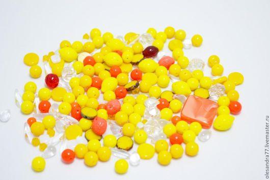 купить бусины. микс. микс бусин. бусины для украшений. МИКС 22 желтый чешские бусины Preciosa. OleSandra 2 бисер бусины. Ярмарка Мастеров.