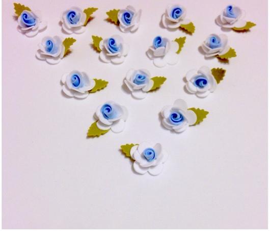 Материалы для флористики ручной работы. Ярмарка Мастеров - ручная работа. Купить Цветы бело-голубые из фоамирана, цена за 20 штук. Handmade.