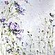 Картина в спальню купить. Декоративные картины для интерьера картина маслом, фиолетовая, розовая голубая картина, объемная живопись, индивидуальный заказ на картину, Марина Маткина Пермь