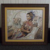 Картины и панно ручной работы. Ярмарка Мастеров - ручная работа Роковая женщина (вышивка крестиком). Handmade.