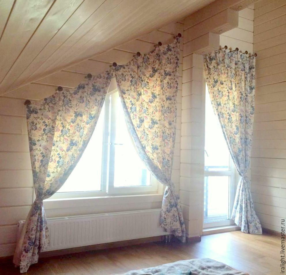 характеристика как сшить шторы на скошенные окна фото учитывать, что