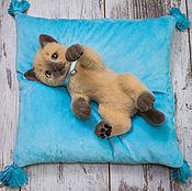 Куклы и игрушки ручной работы. Ярмарка Мастеров - ручная работа Сиамский котёнок (игрушка из войлока). Handmade.