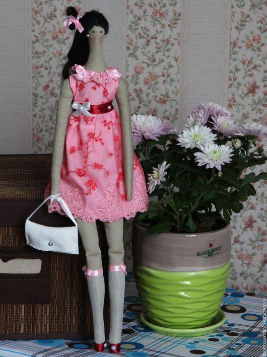 """Куклы Тильды ручной работы. Ярмарка Мастеров - ручная работа. Купить Тильда """"Современная японка"""". Handmade. Розовый, хлопок 100%"""
