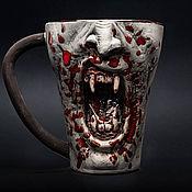 handmade. Livemaster - original item Vampire mug (realistic) Ceramic, for tea and coffee, ceramic mug. Handmade.