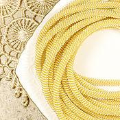 Материалы для творчества ручной работы. Ярмарка Мастеров - ручная работа Канитель витая Золото 4 мм. Handmade.
