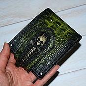Сумки и аксессуары handmade. Livemaster - original item Wallet leather . Skull. Handmade.