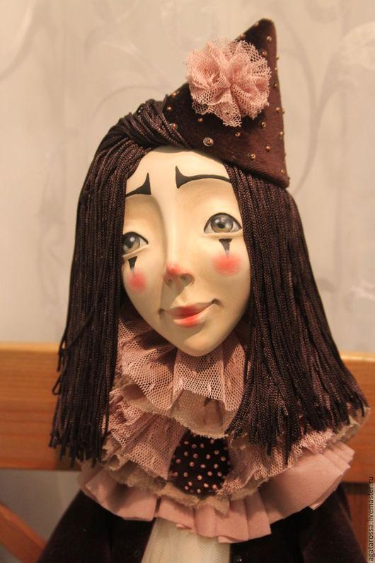 Коллекционные куклы ручной работы. Ярмарка Мастеров - ручная работа. Купить Пьеро. Handmade. Комбинированный, авторская кукла, театр, вышивка