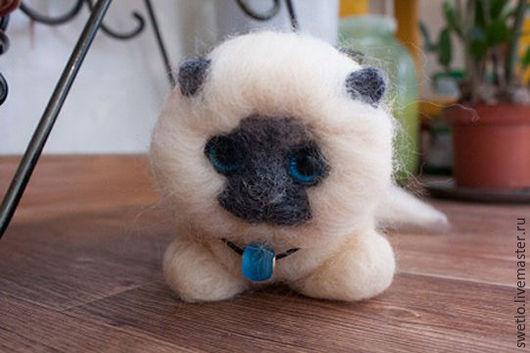 """Игрушки животные, ручной работы. Ярмарка Мастеров - ручная работа. Купить Котик """"Тимоша"""". Handmade. Бежевый, котик, кот в подарок"""