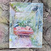 Картины и панно ручной работы. Ярмарка Мастеров - ручная работа Акварельный сад. Handmade.