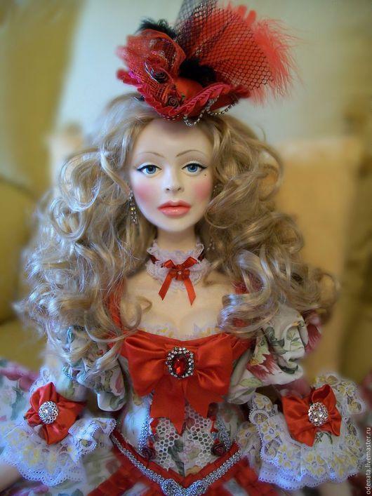 Коллекционные куклы ручной работы. Ярмарка Мастеров - ручная работа. Купить Будуарная,авторская кукла Анна-Мария. Handmade.