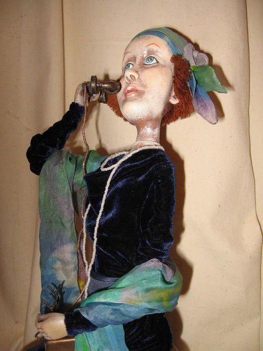 """Коллекционные куклы ручной работы. Ярмарка Мастеров - ручная работа. Купить Кукла """"Алло,алло, какие вести...?"""". Handmade."""
