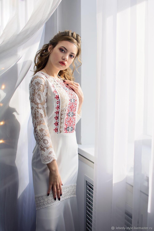 Платье с вышивкой, Платья, Дзержинск,  Фото №1