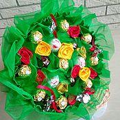 Букет из конфет Цветочная полянка