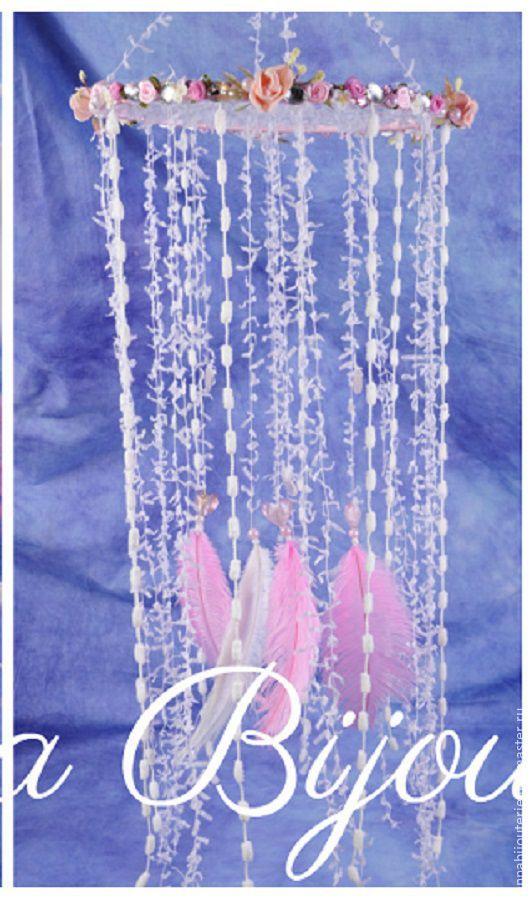 Ловцы снов ручной работы. Ярмарка Мастеров - ручная работа. Купить Pink Girl tender dream Nursery Mobile handmade exclusive Dreamcatcher. Handmade.