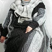 "Одежда ручной работы. Ярмарка Мастеров - ручная работа Пальто вязаные ""Мягкая и пушистая"", 64 размер. Handmade."
