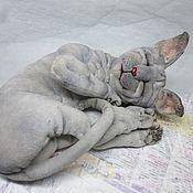 Куклы и игрушки ручной работы. Ярмарка Мастеров - ручная работа Спящий Котик. Handmade.