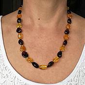 Работы для детей, handmade. Livemaster - original item Amber beads made of amber jewelry as a gift to a woman. Handmade.